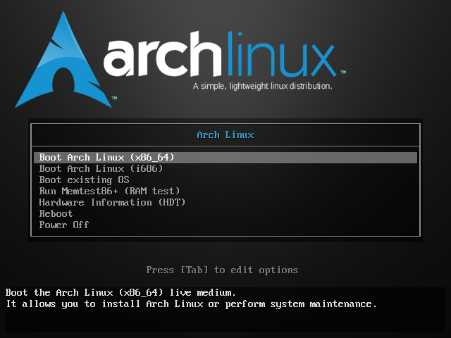 Guide to install Arch Linux