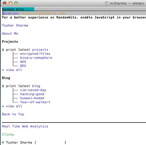 Why I never close Emacs